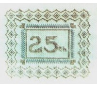Silver 25th Wedding Anniversary Sampler
