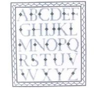 Alphabet Sampler in Blue
