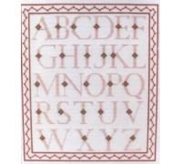 Alphabet Sampler in Pink