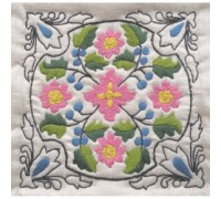Delft Tile 1 Embroidery - DT1