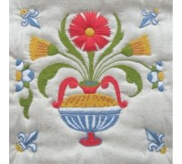 Delft Tile 4 Embroidery - DT4