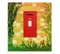 Post Box in Wall Cross Stitch