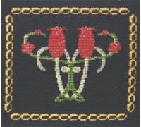 Victorian Tulips Tile