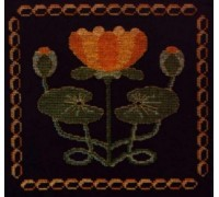 Victorian Water Lily Tile