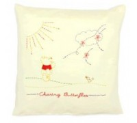 Chasing Butterflies Embroidery Cushion - DPPS001