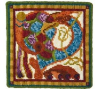 Celtic Bird Tapestry on Cream