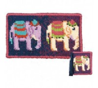 Elephants Tapestry Needlecase