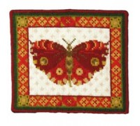 Red Butterfly Tapestry