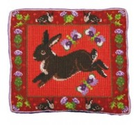 Thistle Rabbit Tapestry