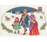 Vintage Christmas Family Visit-BK1583