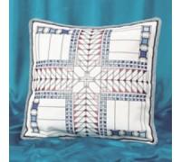 Blue Tones American Art Deco Cushion