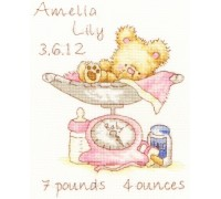 Huggles Featherweight Birth Sampler - Girl - XIH3