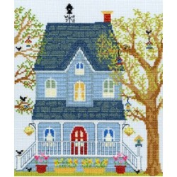 New England Homes in Cross Stitch