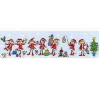 Row of Christmas Fairies - XR04