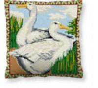 Aylesbury Ducks Tapestry Cushion - C1608