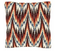 Bargello in Red Geometric Tapestry - T1799