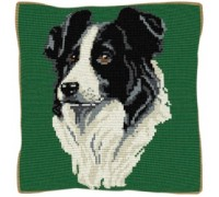 Border Collie Tapestry Cushion - C1840
