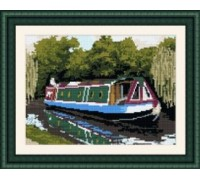 Canal Boat Tapestry - T1950