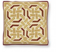 Gold Celtic Chunky Tapestry Cushion - C1738