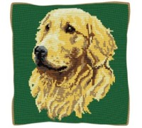 Golden Retriever Tapestry Cushion - C1832