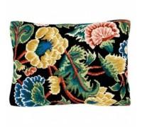 Jervaulx in Black Floral Tapestry - T1803