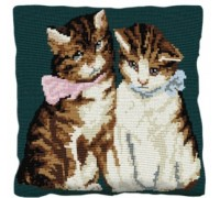 Kittens Tapestry Cushion - C1835