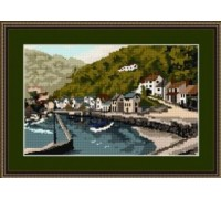 Lynmouth Harbour Tapestry - T1758