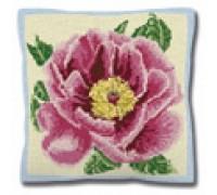 Peony Cross Stitch Tapestry Cushion - C1659
