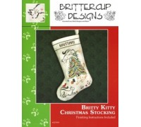 Britty Kitty Christmas Stocking Chart - 06-2699