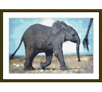 African Elephant Calf - Chart or Kit
