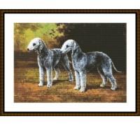 Bedlington Terrier Pair - Chart or Kit