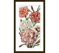 Carnations - Chart or Kit