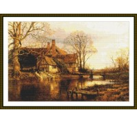 Old Manor House by the River - Chart or Kit