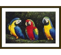 Parrots Three - Chart or Kit