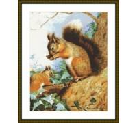 Squirrel Teatime - Chart or Kit