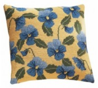 Blue Pansy Herb Pillow - HP30 - Country Garden Collection