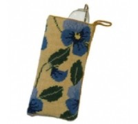 Blue Pansy Spectacle Case Tapestry - NG32