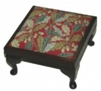 Red Acorn Footstool Tapestrry - NG08