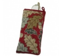 Red Acorn Tapestry Spectacle Case - NG14