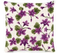 Campanula on Cream Herb Pillow - HP49 - Country Garden Collection