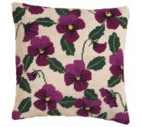 Cerise Pansy Herb Pillow - HP43 - Country Garden Collection
