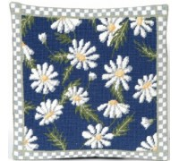 Daisy with Border Herb Pillow - CG01 - Cottage Garden Collection
