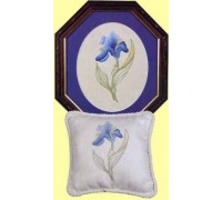 Spring Iris Crewel Work - SI1