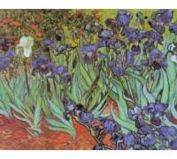Die Irises, Large - Chart or Kit