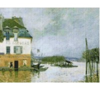Flood at Port Marly by Sisley - Chart or Kit