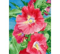 Hollyhocks Chart or Kit