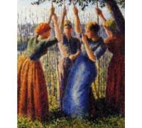 Peasant Women Planting Peas - PIS-03