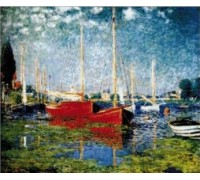 Red Boats at Argenteuil - Chart or Kit