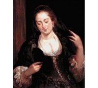 Woman with Mirror by Rubens - Chart or Kit
