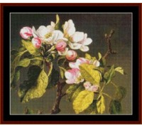 Apple Blossoms by Heade - Chart or Kit